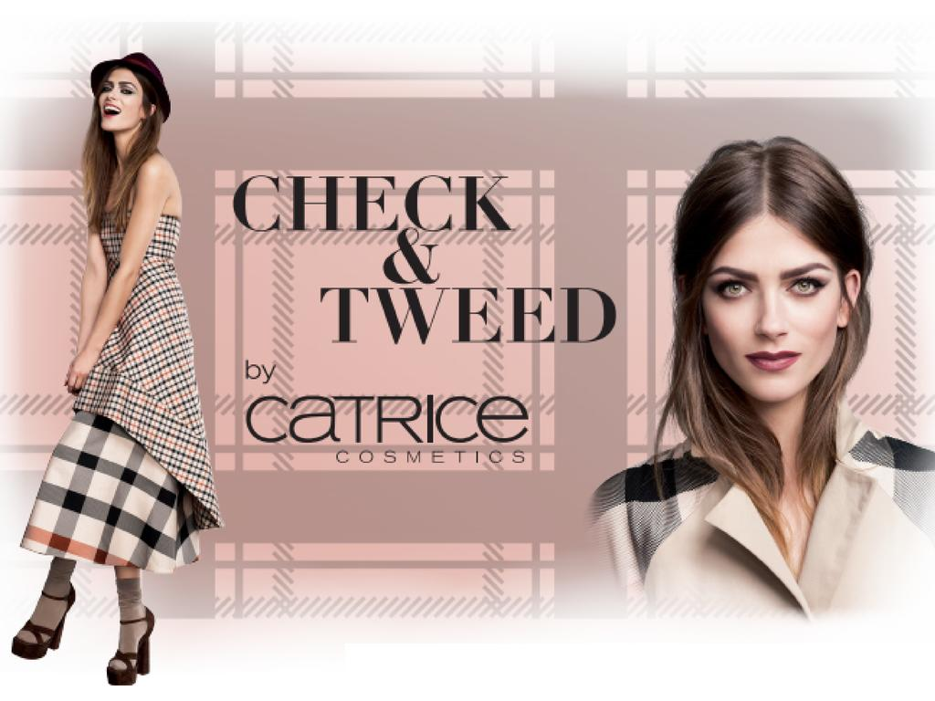 "Von Mitte September bis Mitte Oktober 2014 bietet die Limited Edition ""Check & Tweed"" by CATRICE die passenden Beauty-Produkte für den British Way of Life. Highlights der Kollektion sind die Quattro Baked Eyeshadows in zwei Farbvarianten, die Velvet Lip Colours mit semi-mattem Finish, ein Highlighting Powder in Tweed-Optik sowie fünf angesagte Nagellacke in den limitierten Check & Tweed Farben Graublau, Hunting Green, Camel, Rosé und Rostrot.  London is calling – by CATRICE."