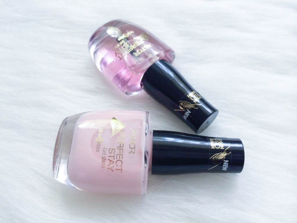 Astor Perfect Stay Gel Shine Nagellack (101/130 Transparent & 002/954 Baby Pink Manicure).