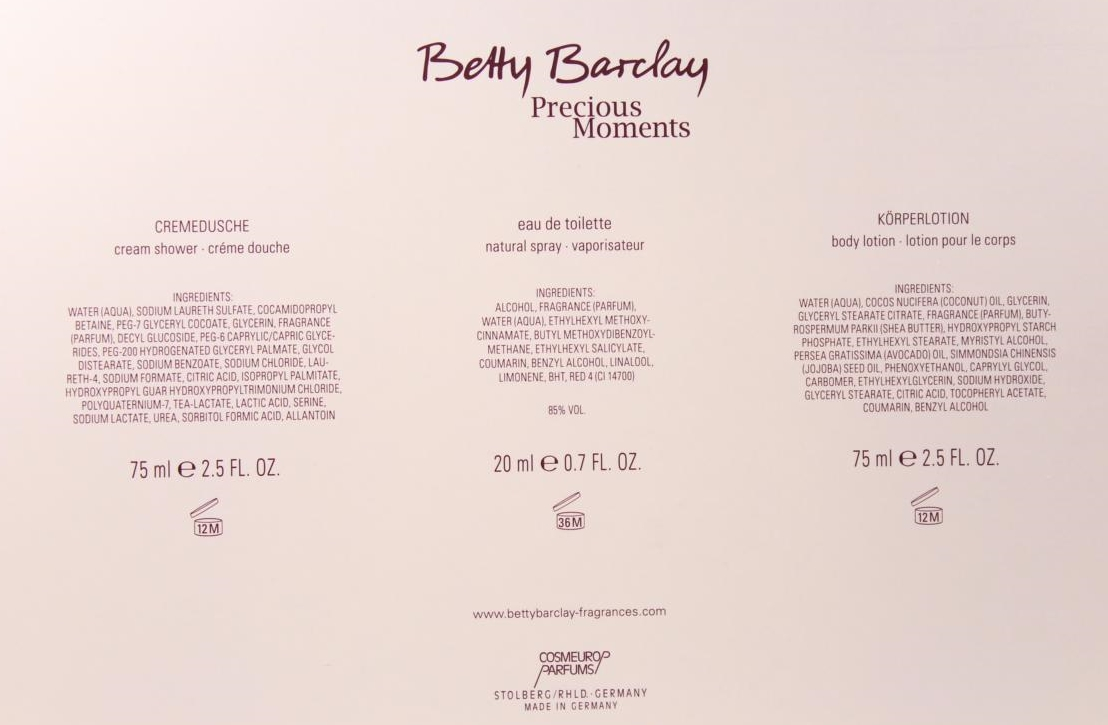 Betty Barclay Precious Moments Eau de Parfum Geschenkset
