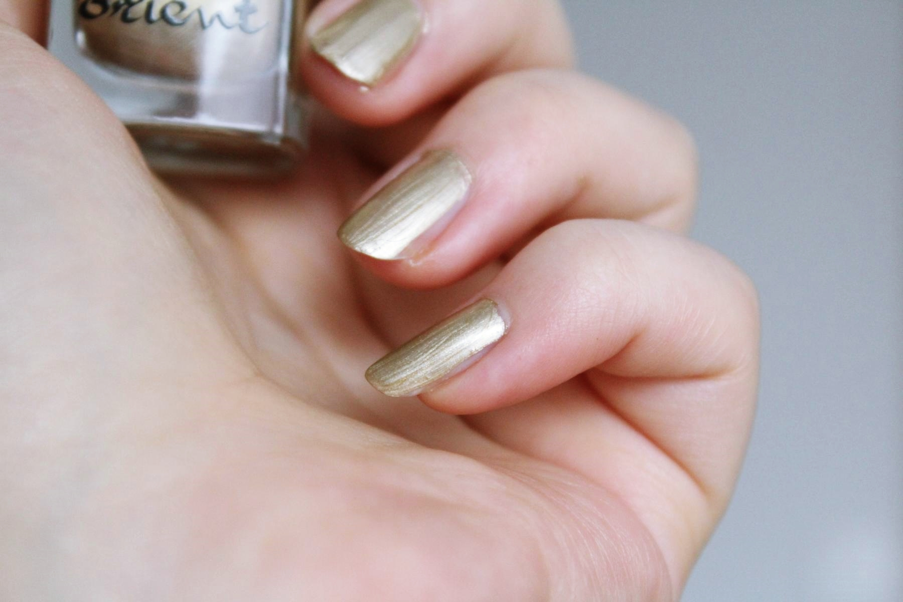 "essence lights of orient nail polish ""01 Golden Gate to Orient"""