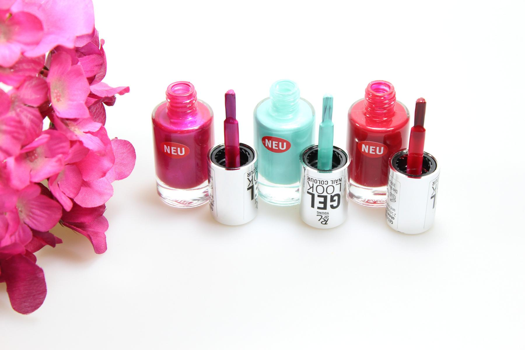 "Nagellackpinsel Rival de Loop Young - Gel Look Nail Colour Nagellacke ""06 Fuchsia Pearl"", ""08 Atlantis"", ""05 Night Rythm"""